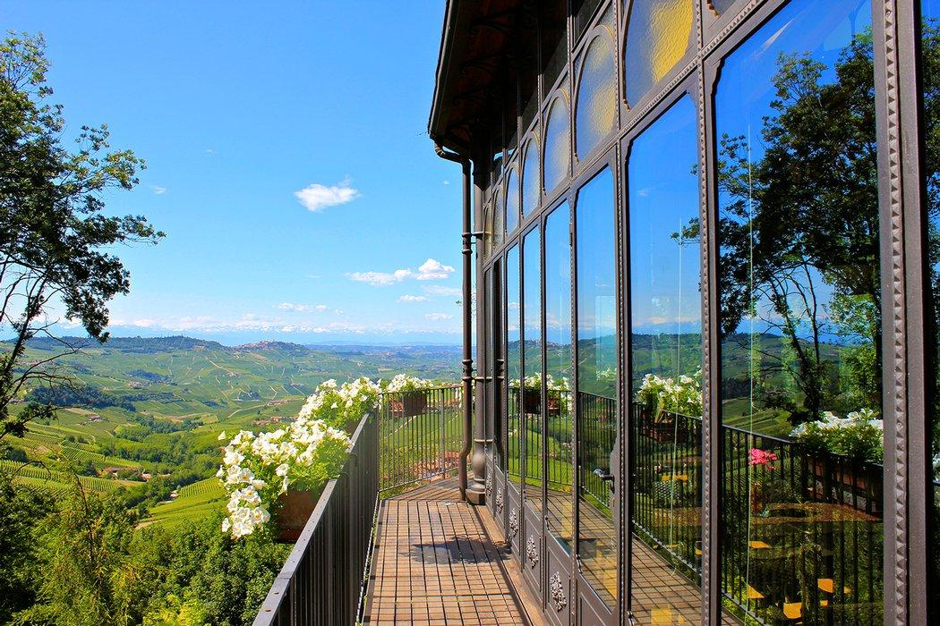 View From Villa Beccaris In Piedmont