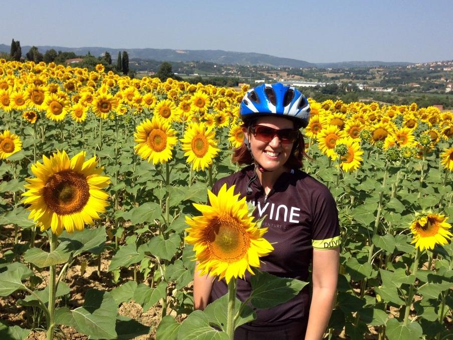 Sybille on her Tuscany bike tours adventure