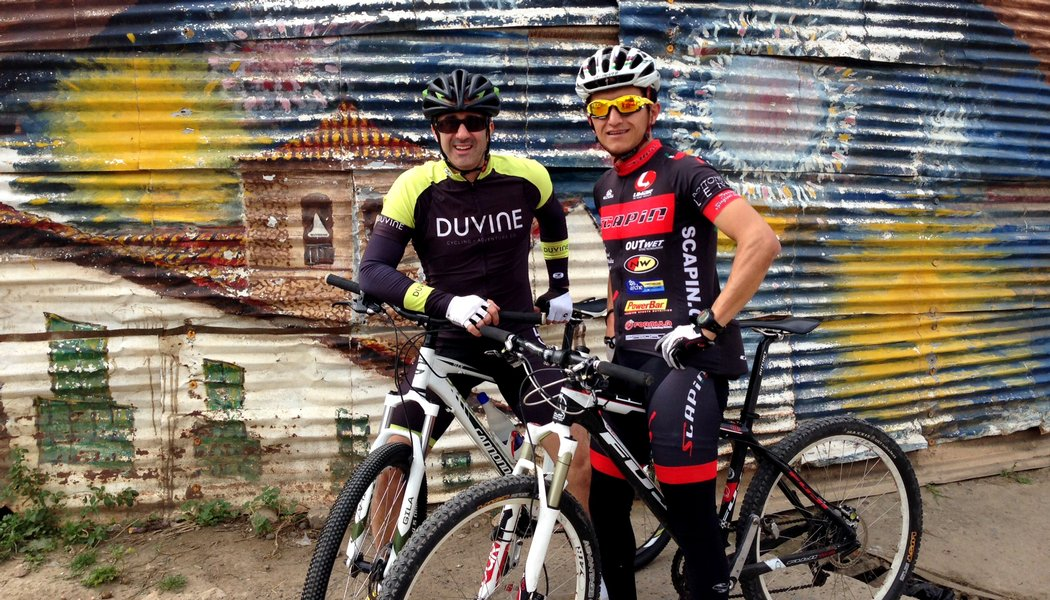 Andy with Nairo Quintana in Colombia