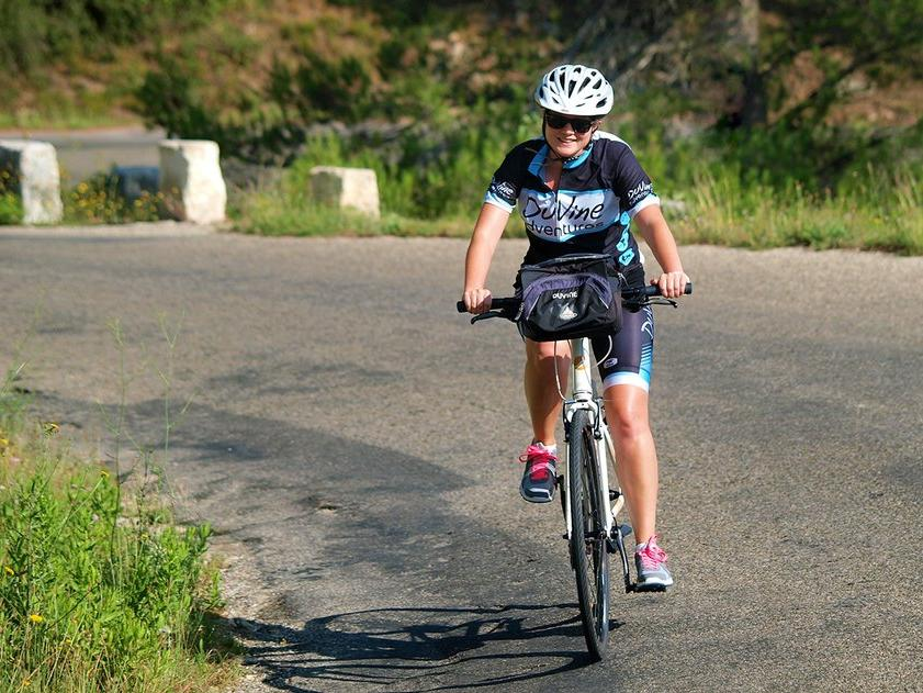 Aislyn on the Provence Bike Tour