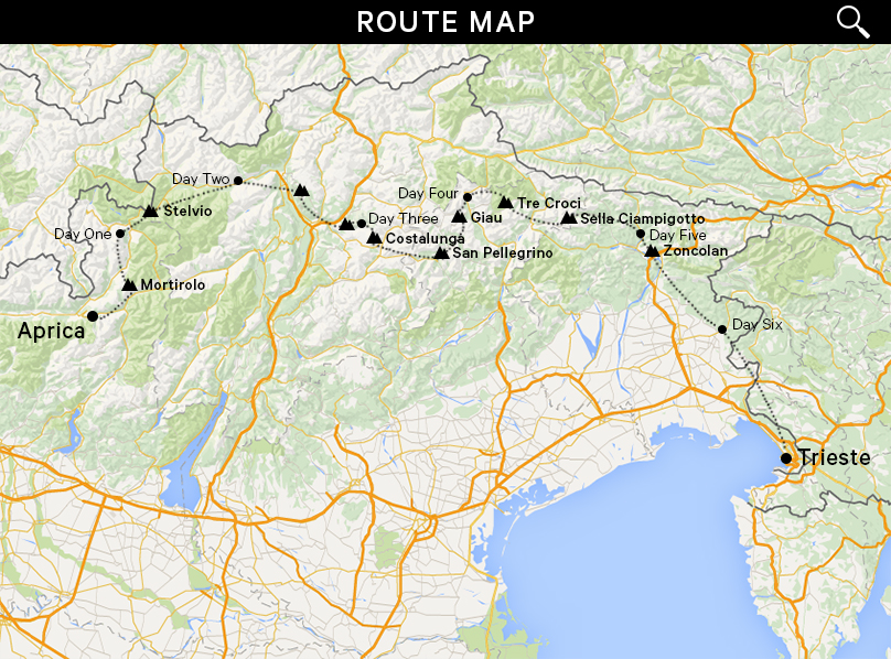 Map - Dolomites Journey