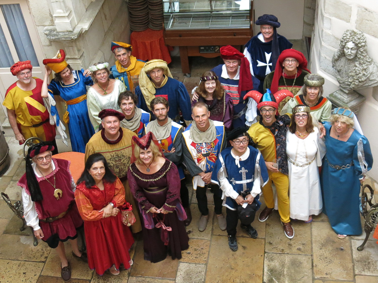 DuViners dressed up in costume for 20 years in Burgundy, France