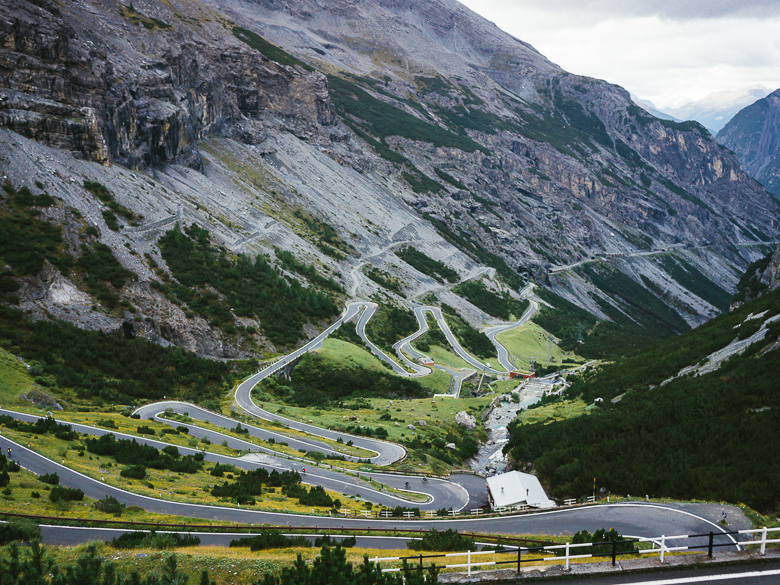 Stelvio Pass in Dolomites, Italy