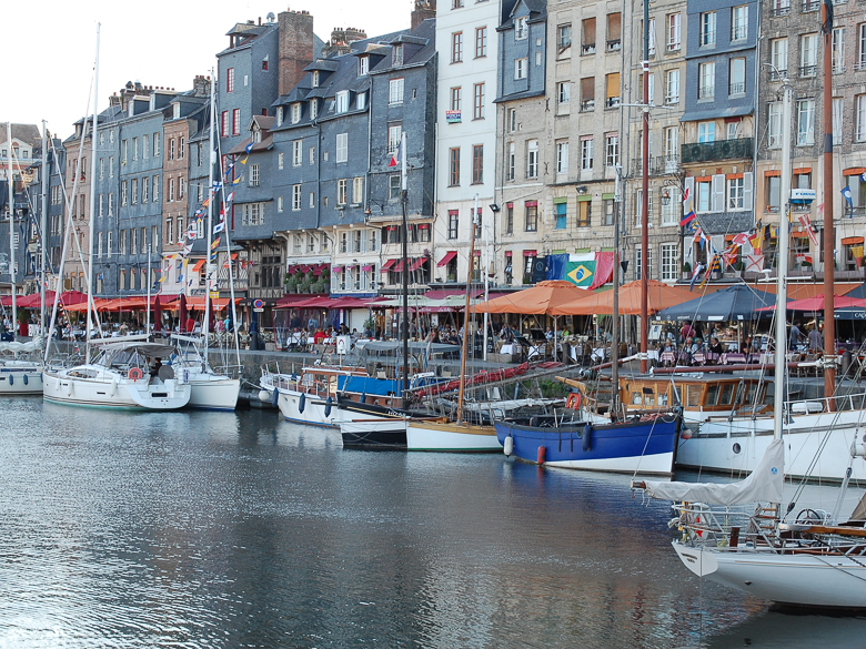 Port with boats in Normandy, France