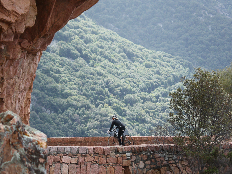 Cyclist in Corsica, France