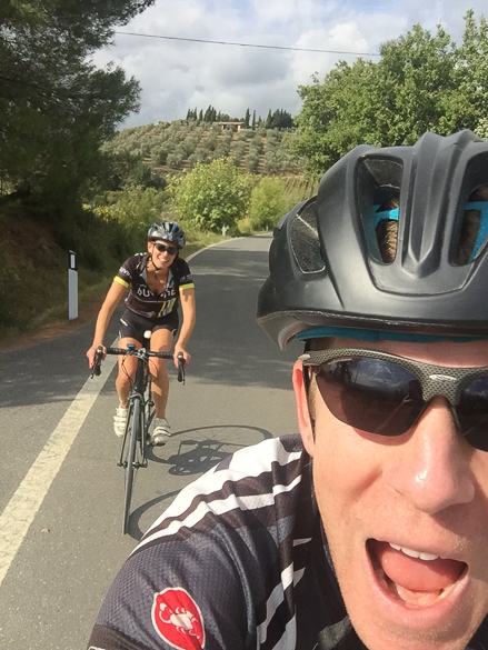 Sarah and Kris on their DuVine bike tour in Italy