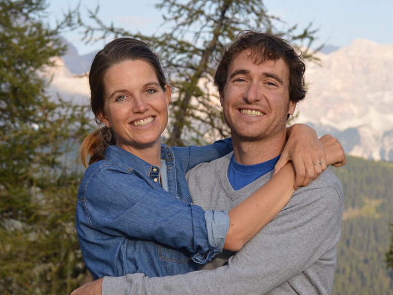 DuVine guides and husband and wife, Tom and Arien Coppock