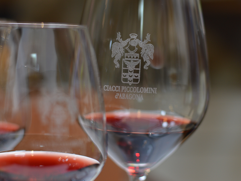 A wine glass from Ciacci Piccolomini