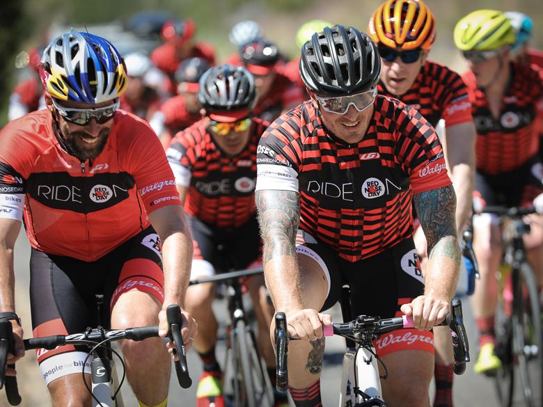 Pro cyclist Tim Johnson rides with chef Seamus Mullen