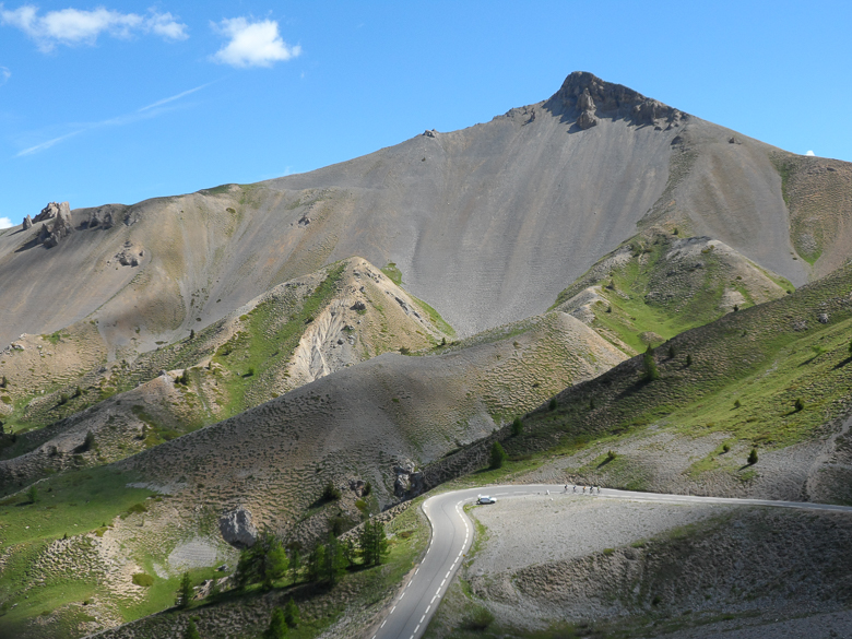 Peaks of the Col d'Izoard in the Alps