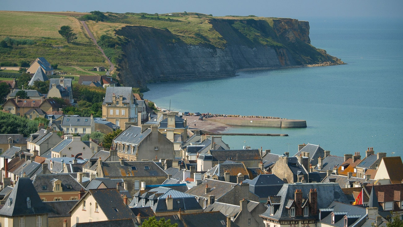 A coastal village in Normandy, France