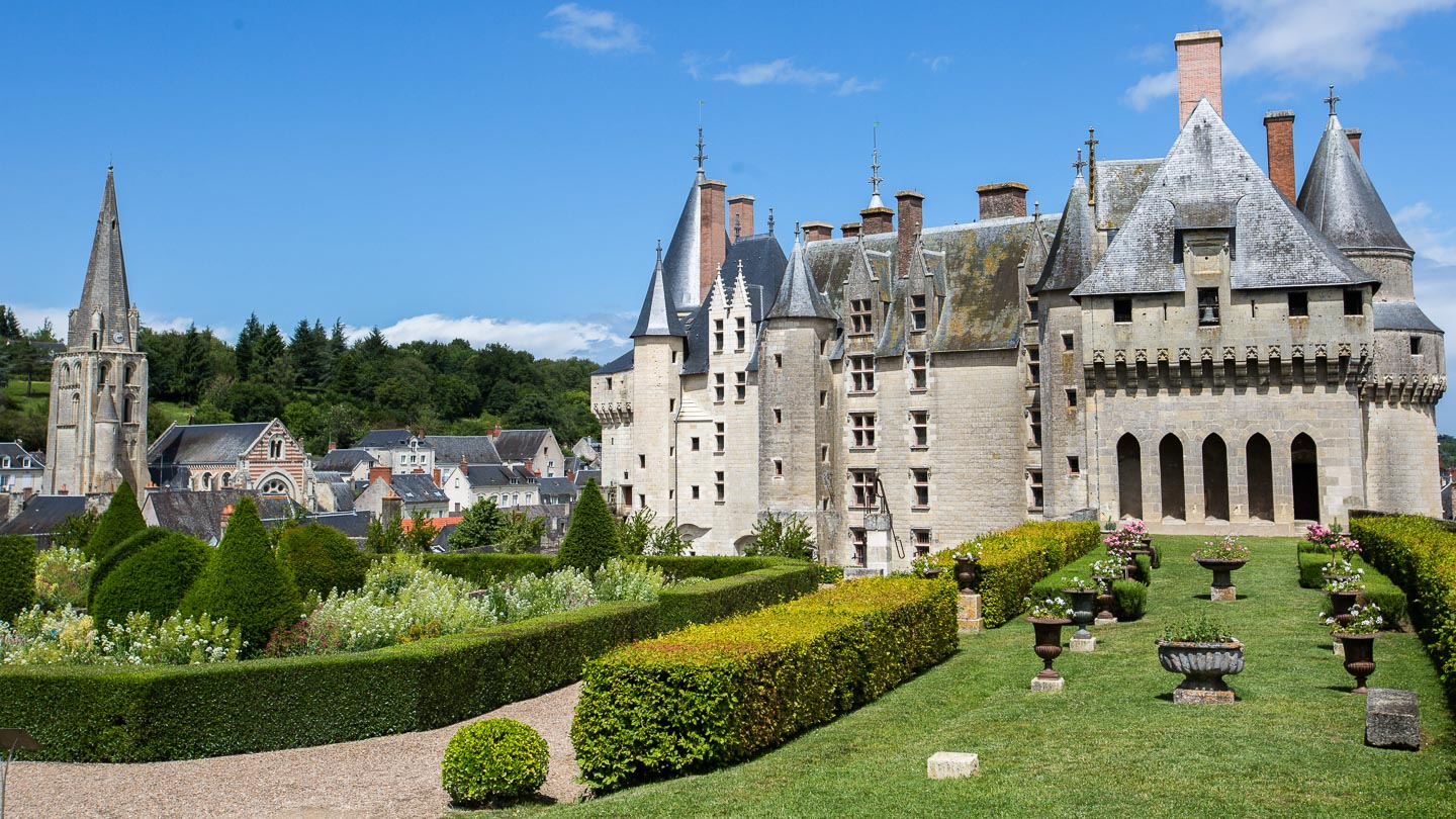 Château de Langeais and gardens in Loire Valley, France