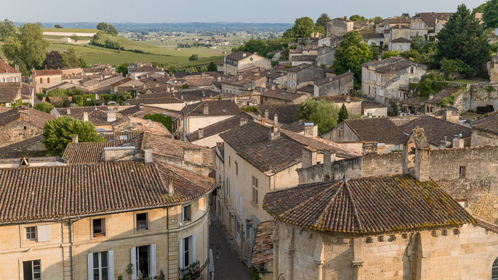 The UNESCO World Heritage village of Saint-Emilion in Bordeaux, France