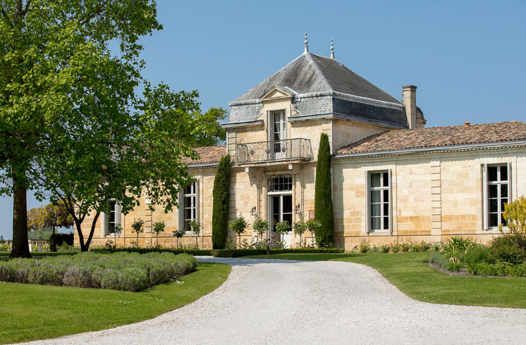 The exterior of Cordeillan-Bages hotel in the village of Pauillac