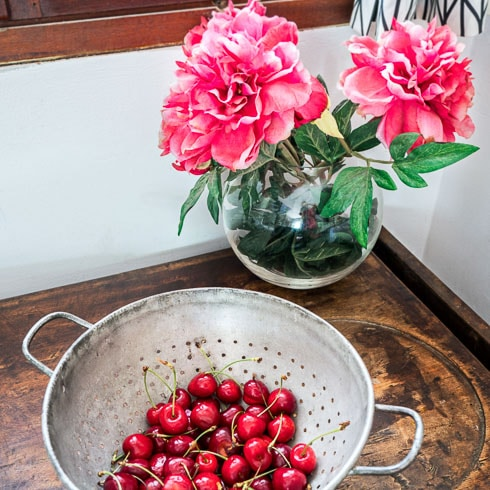 A bowl of freshly picked