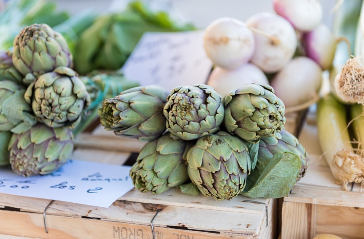 Fresh artichokes for sale